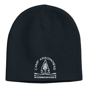 EMBROIDERED KNIT BEANIE CAP