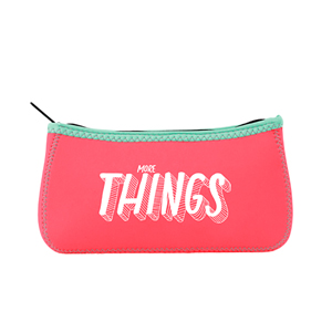 CANOE SHAPED ZIPPER POUCH, LG