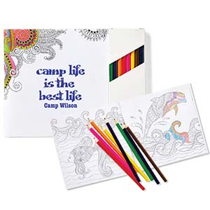 COLORING BOOK SET WITH PENCILS