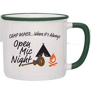 TWO TONE CERAMIC CAMPFIRE MUG, 14 OZ