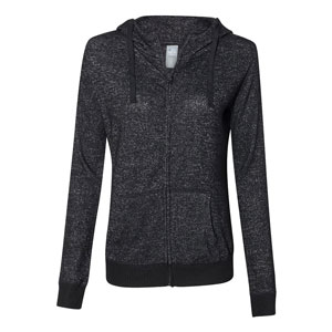 HEATHERED LADIES COZY FULL ZIP