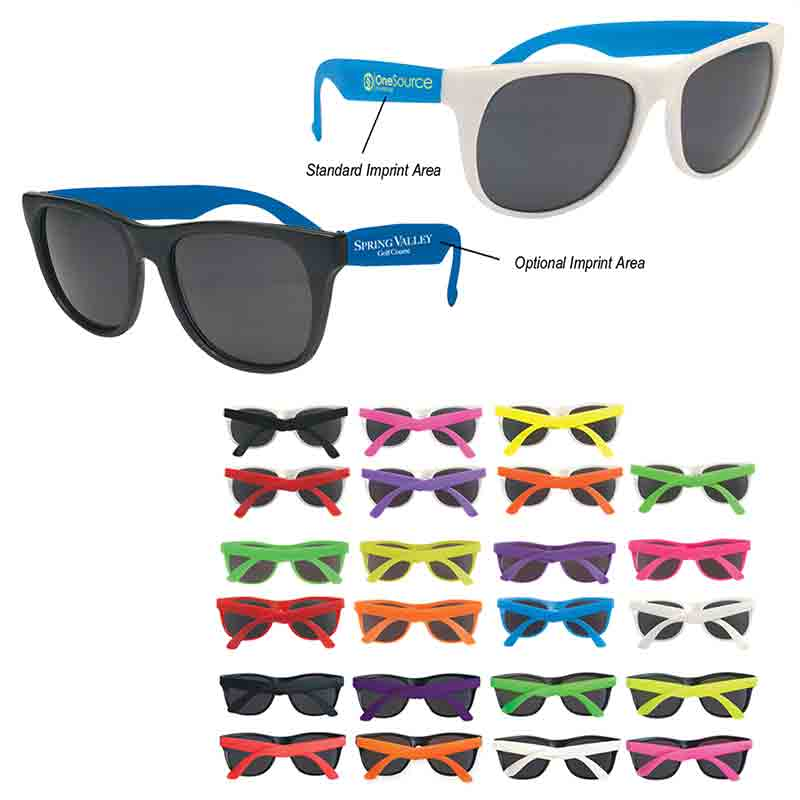 4a185412be RUBBER NEON SUNGLASSES - Logo Products for Camps