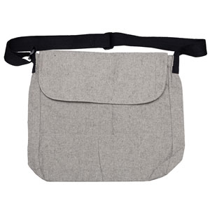 NATURAL COTTON TWEED MESSENGER BAG