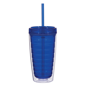 DOUBLE WALL EMBLEM TUMBLER, 16 OZ
