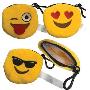 EMOJI ZIPPERED POUCH