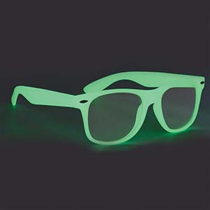 GLOW IN THE DARK GLASSES WITH CLEAR LENSES