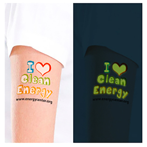 GLOW IN THE DARK CUSTOM TEMPORARY TATTOOS