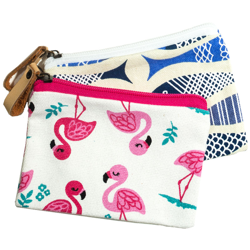 SUMMER VIBES CANVAS POUCH