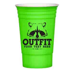 INSULATED DESIGNER PARTY CUP, 16 OZ