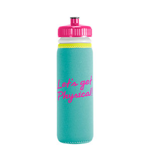 NEOPRENE INSULATED BOTTLE, 22 OZ PUSH PULL