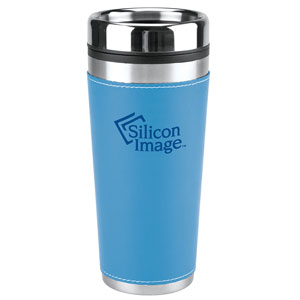 LEATHERETTE TRAVEL MUG