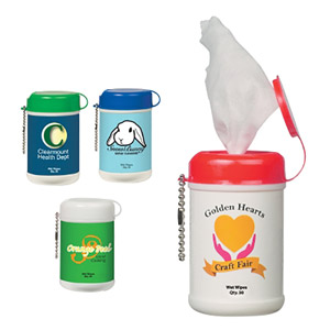 ANTIBACTERIAL MINI WET WIPE CANISTER