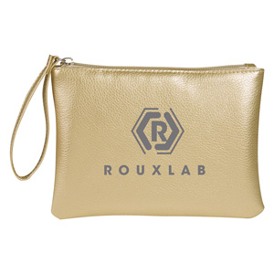 METALLIC ZIPPER POUCH