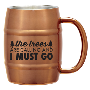 MOSCOW MULE BARREL MUG, 14 OZ