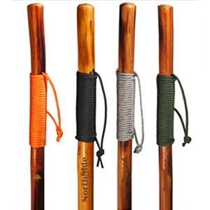 PARACORD GRIP WOODEN HIKING STICK