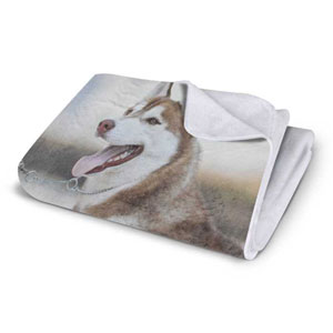 VELVET PLUSH FLEECE PHOTO BLANKET, 60