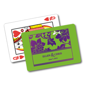 PLAYING CARDS WITH FULL COLOR LOGO