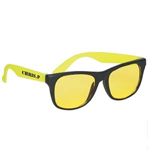 TINTED LENS RUBBER NEON SUNGLASSES