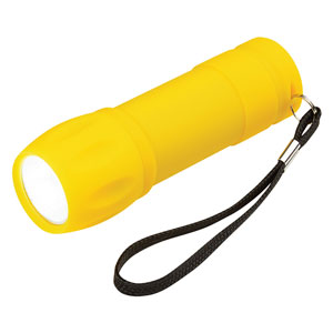 RUBBERIZED FLASHLIGHT, COB