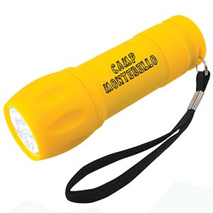 RUBBERIZED FLASHLIGHT, LED