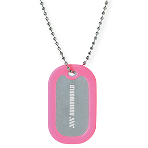 RUBBER FRAMED DOG TAGS