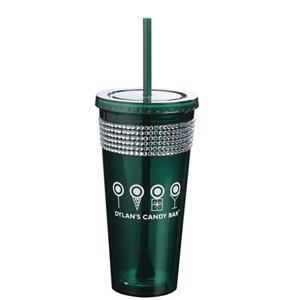 SPARKLE BLING DOUBLE WALL ACRYLIC TUMBLER
