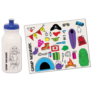 STICKER SHEET BIKE BOTTLE