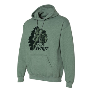 SCREENED HOODIE SWEATSHIRT, 7.5 OZ