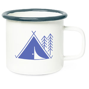 HEAVYWEIGHT METAL CAMPFIRE MUG, 14OZ