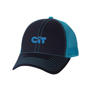 EMBROIDERED 6 PANEL CAP POLY TWILL-CONTRAST STITCH