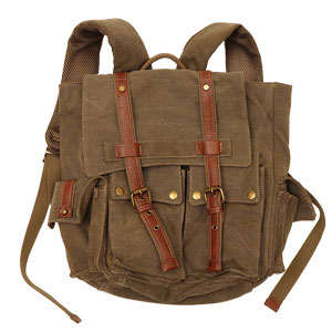 STONE WASHED CANVAS BACKPACK