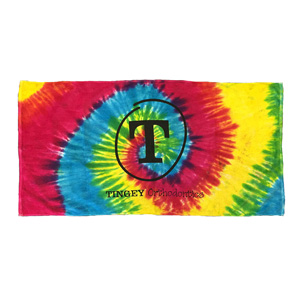 TIE DYE TERRY VELOUR BEACH TOWEL