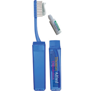DISCONTINUED: TRAVEL TOOTHBRUSH WITH TOOTHPASTE