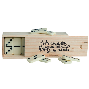 WOODEN BOXED DOMINOES