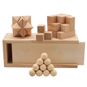 3-IN-1 WOODEN PUZZLE SET