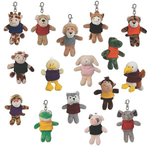 WILD BUNCH KEY TAGS, 4 1/2