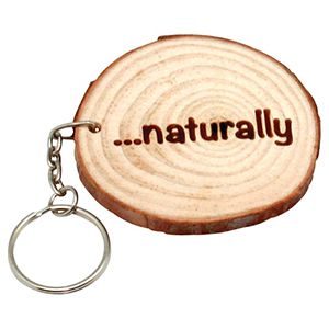 NATURAL WOOD KEYRING